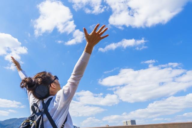 青空に手を伸ばす